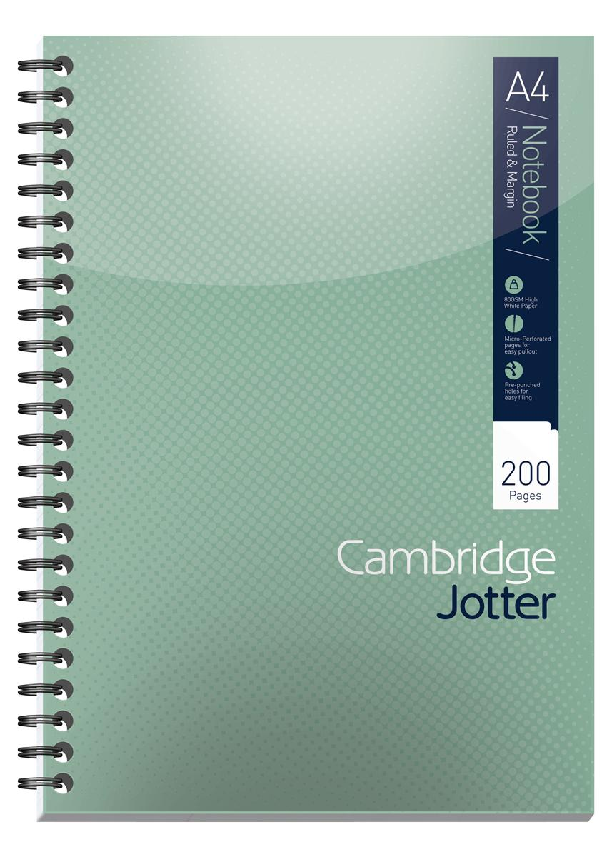 Image for Cambridge Jotter Notebook Wirebound 80gsm Ruled 200pp A4 Ref 400039062 [Pack 3]
