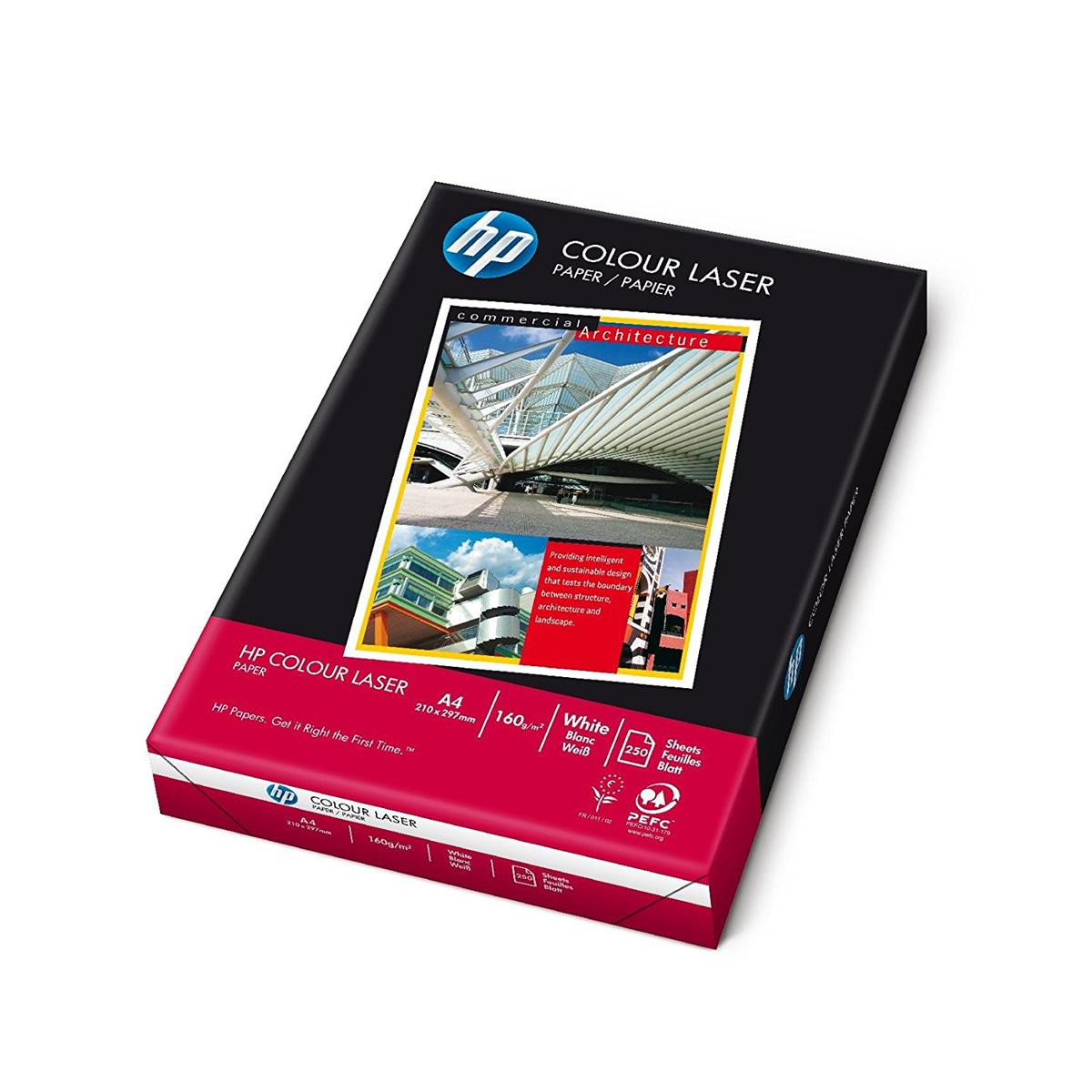Image for Hewlett Packard [HP] Colour Laser Paper 160gsm A4 White Ref HCL0339 [250 Sheets]