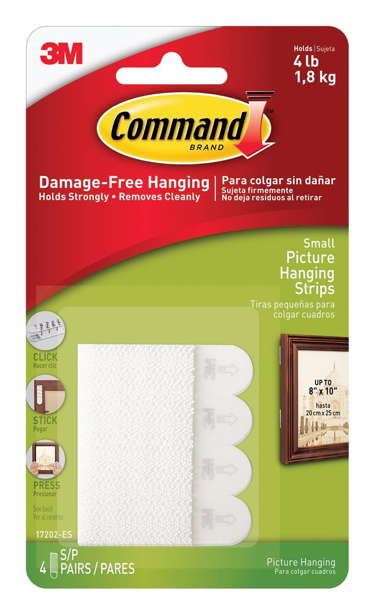 Image for Command Picture Hanging Strips Small Ref 17202 [Pack 4]