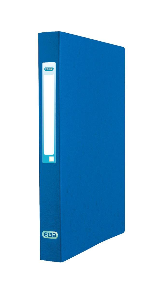 Image for Elba Eurofolio Ring Binder Pressboard 2 O-Ring Size 25mm A4 Blue Ref 100201469 [Pack 10]