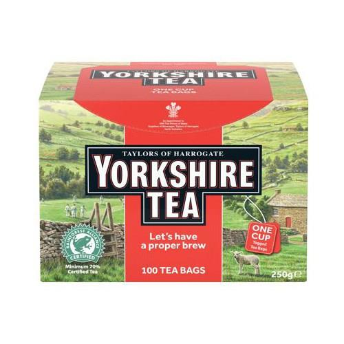 Yorkshire Tea Naked String and Tag Ref 0403256 [Pack 100]