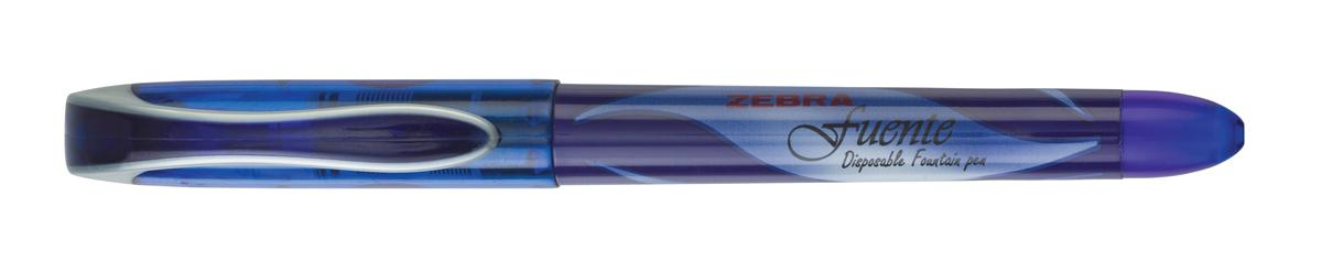 Image for Zebra Fuente Disposable Fountain Pen Blue Ref 69482 [Pack 12]