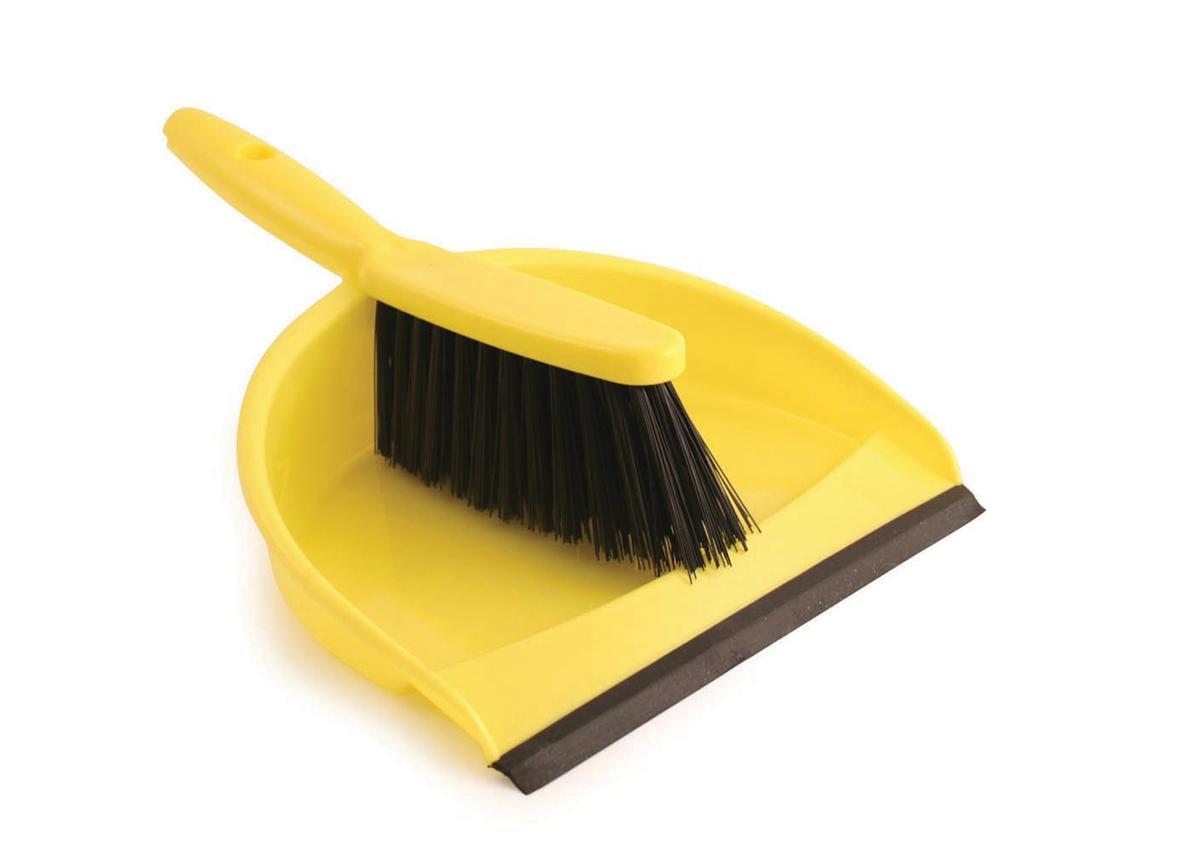 Dustpan and Brush Set Soft Bristle Yellow Ref SPC/VZ.8011/Y