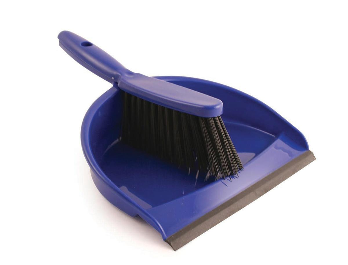 Dustpan and Brush Set Soft Bristle Blue Ref SPC/VZ.8011/B