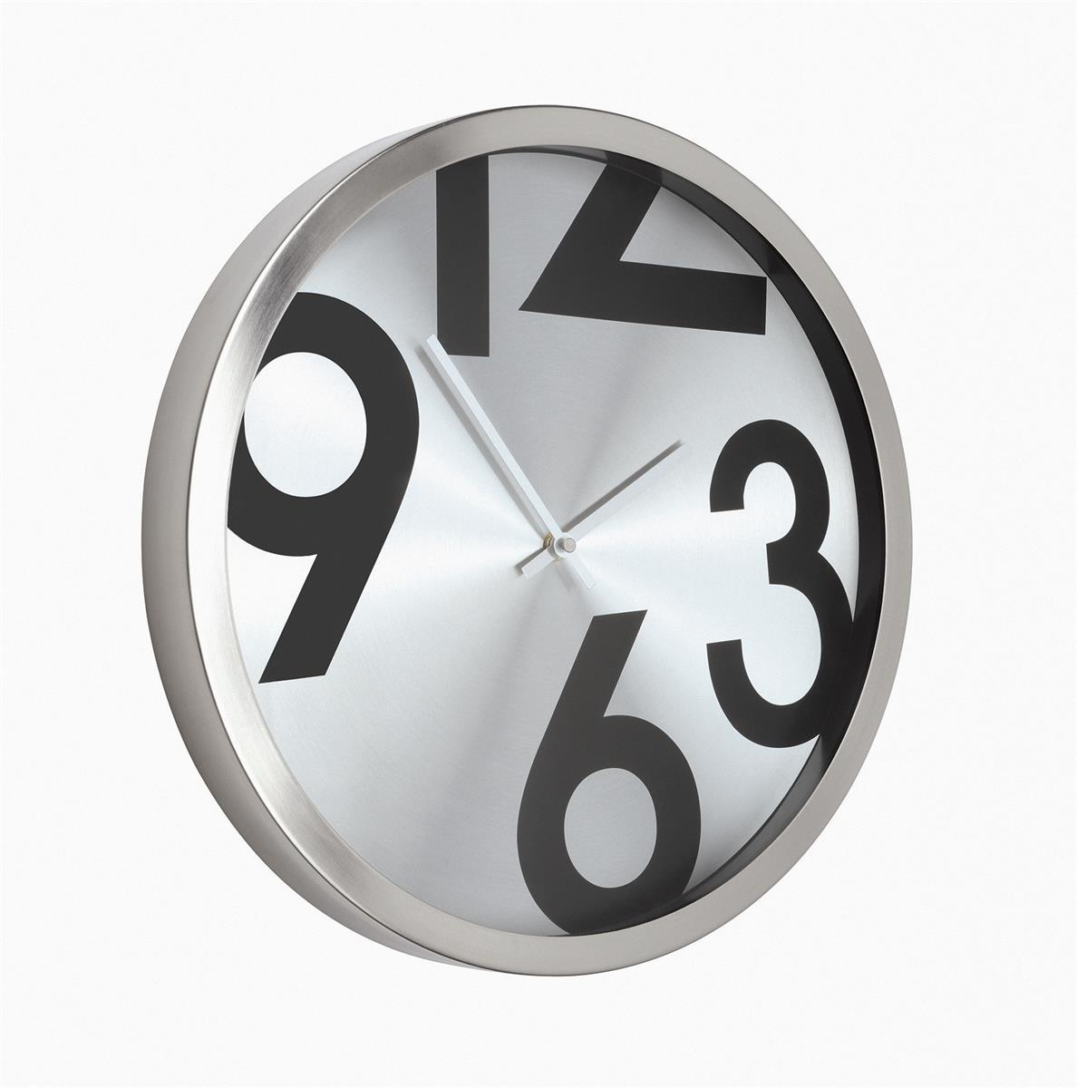Image for Wall Clock Round Metal Ref 2716