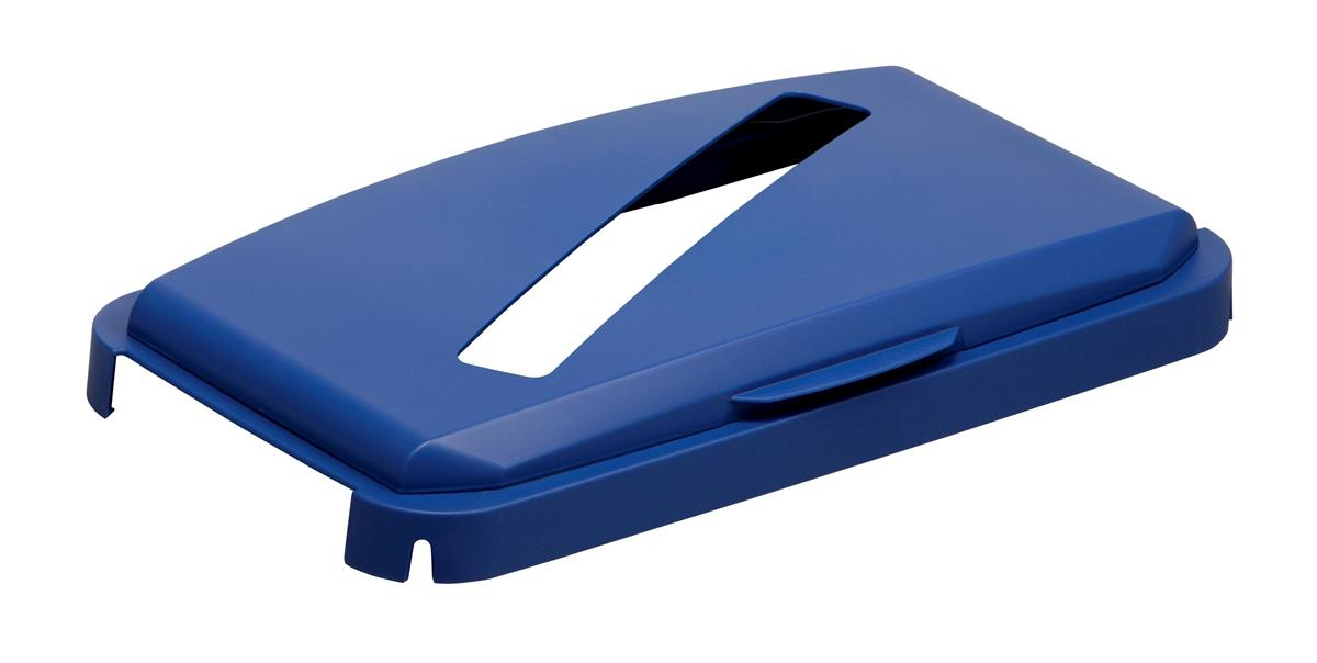 Image for Durable Durabin Hinged Lid Recycling Paper and Card for 60 Litre Ref 1800502040