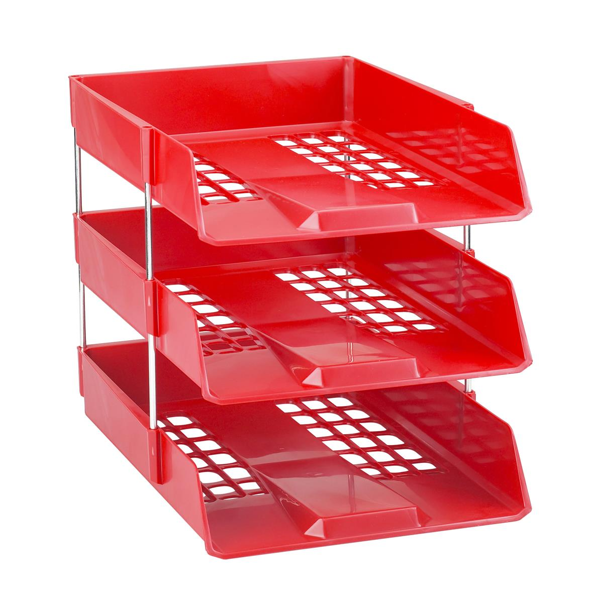 Image for Avery Basics Letter Tray Stackable Versatile A4 Foolscap Red Ref 1132RED