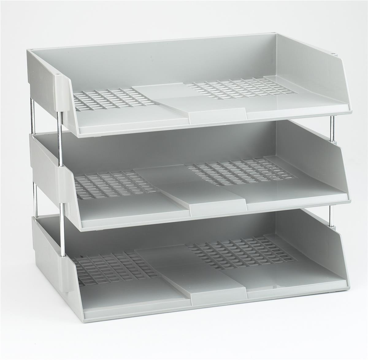 Image for Avery Wide Entry Filing Tray W367xD254xH63mm Light Grey Ref W44LGRY
