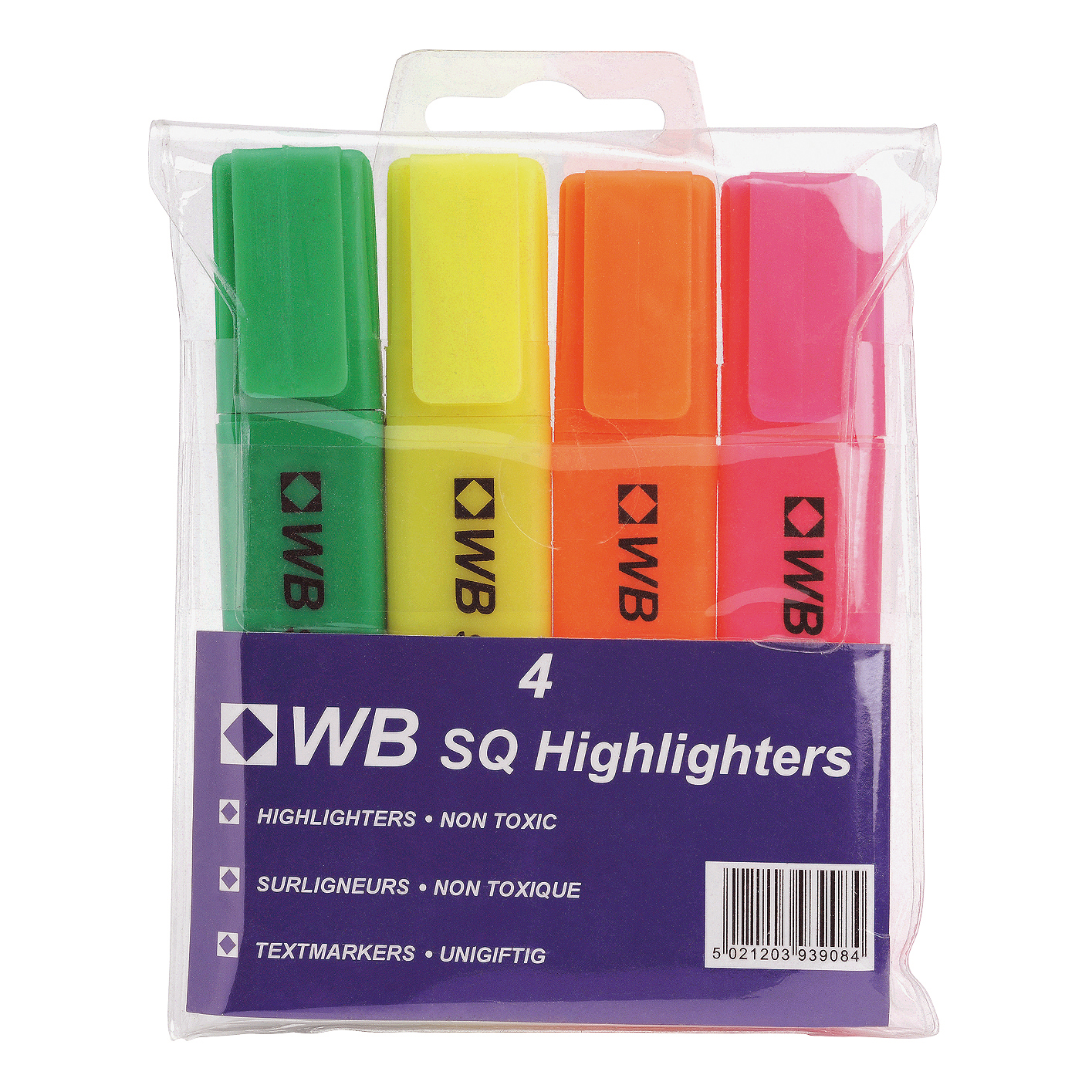 5 Star Value Highlighters Assorted Pack 4