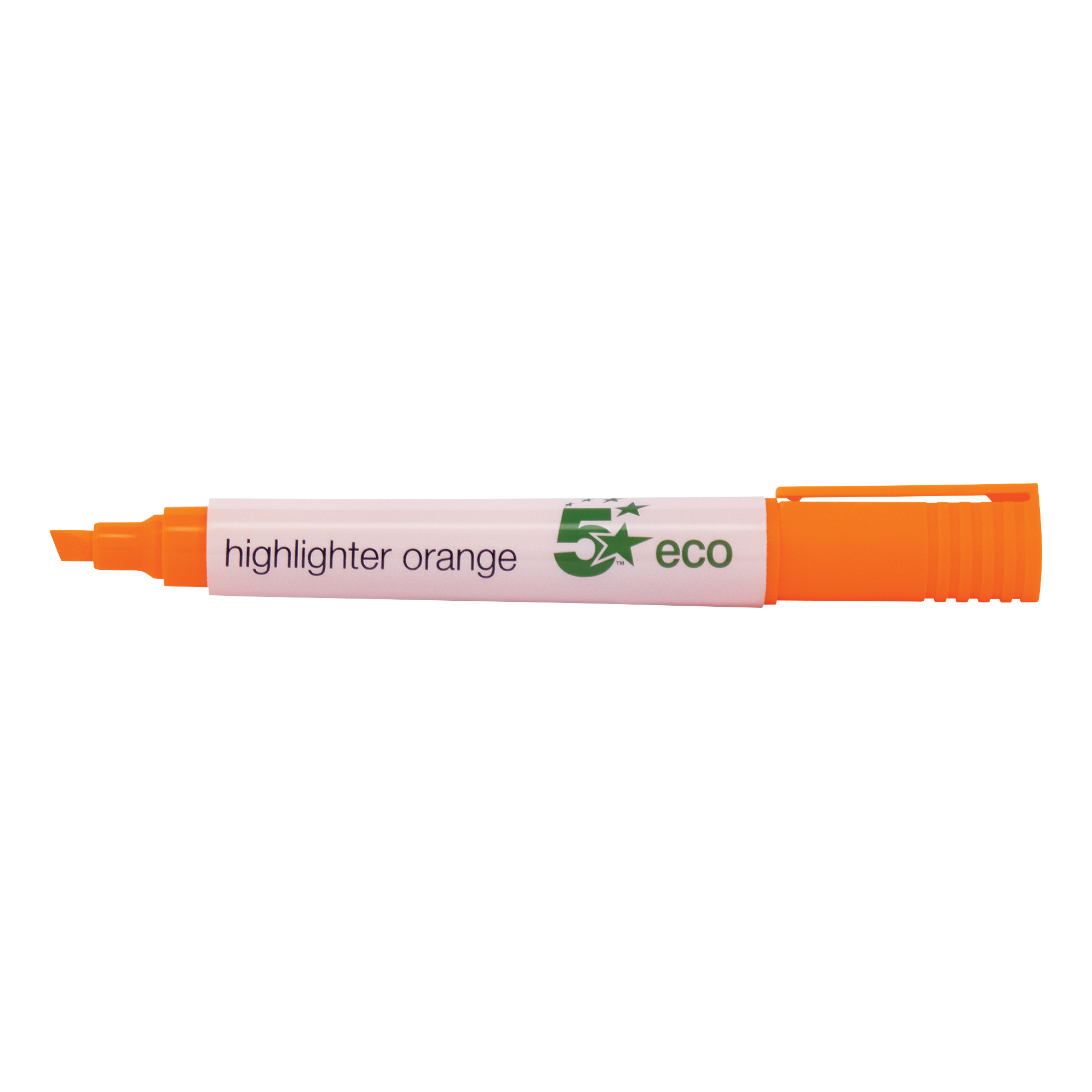 5 Star Eco Highlighter Chisel Tip 1-5mm Line Orange Pack 10