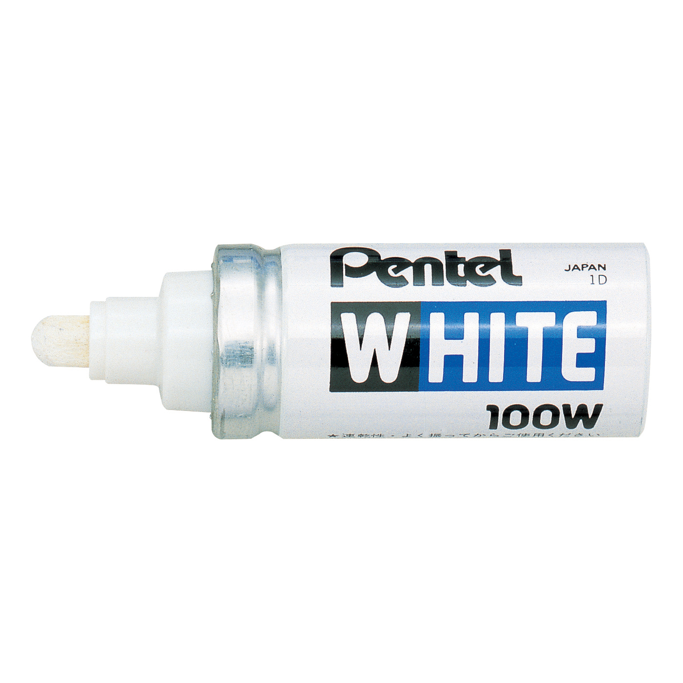 Pentel White Permanent Marker Valve-controlled Bullet Tip 6.6mm Tip 3.3mm Line White Ref X100W Pack 12
