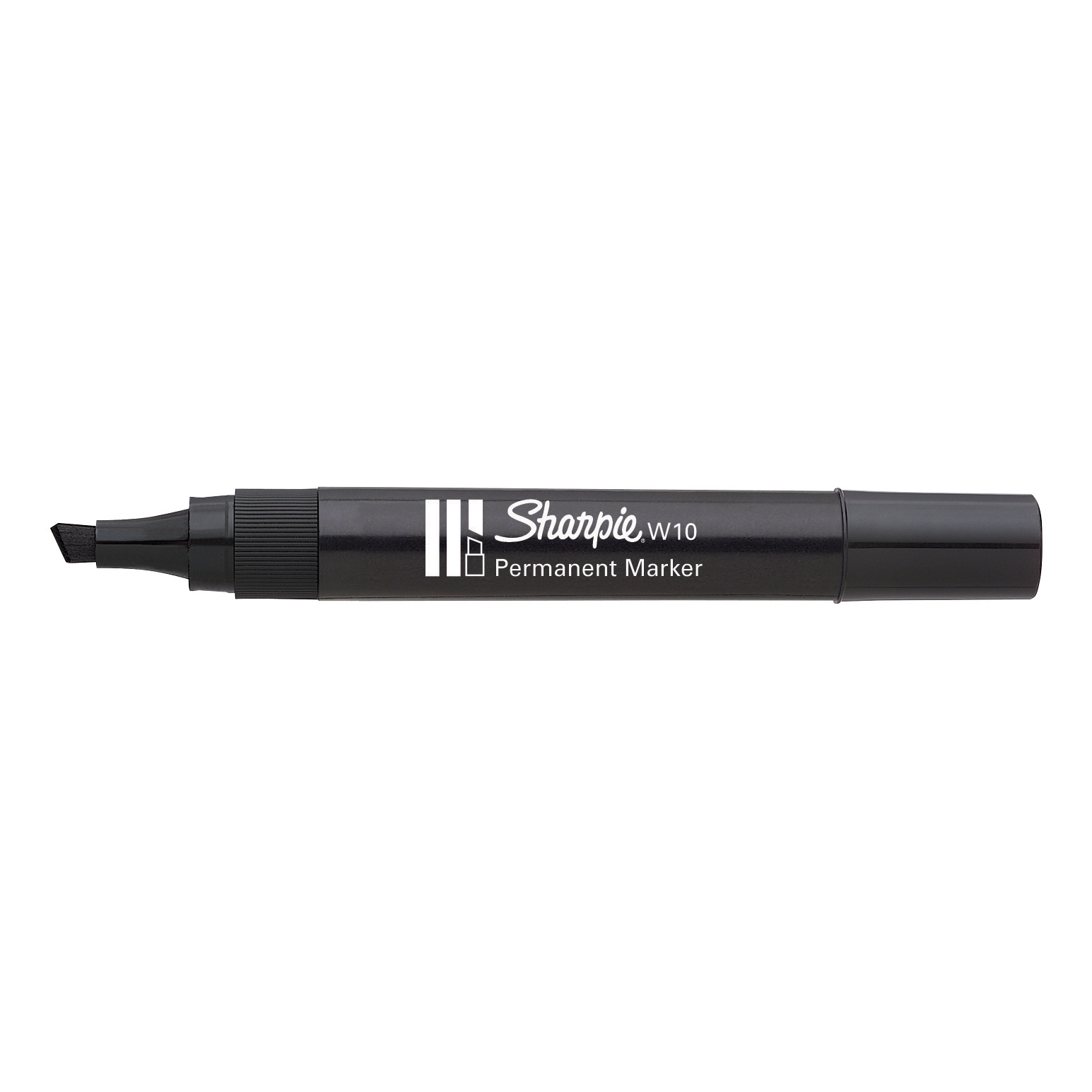 Sharpie W10 Permanent Marker Chisel Tip 1.5-5.0mm Line Black Ref S0192654 [Pack 12]