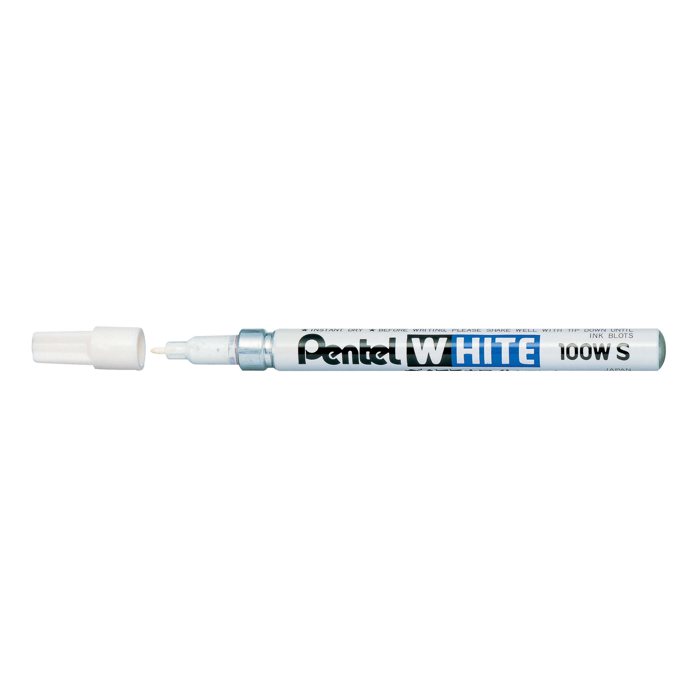 Pentel Permanent Marker Valve Controlled Fine Bullet 2.0mm Tip 1mm Line White Ink Ref X100WS [Pack 12]