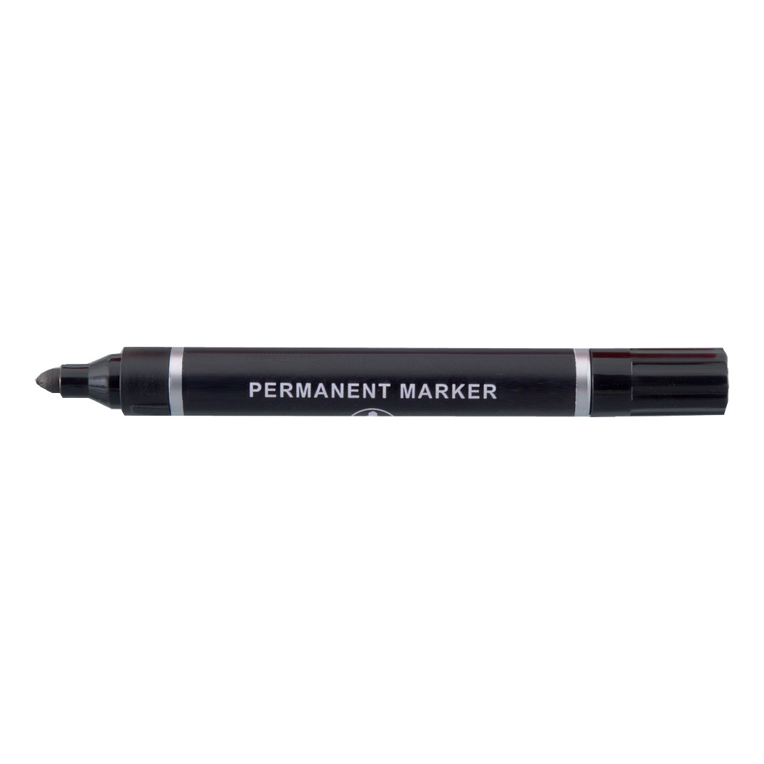5 Star Value Permanent Marker Bullet Tip 2mm Line Black [Pack 10]