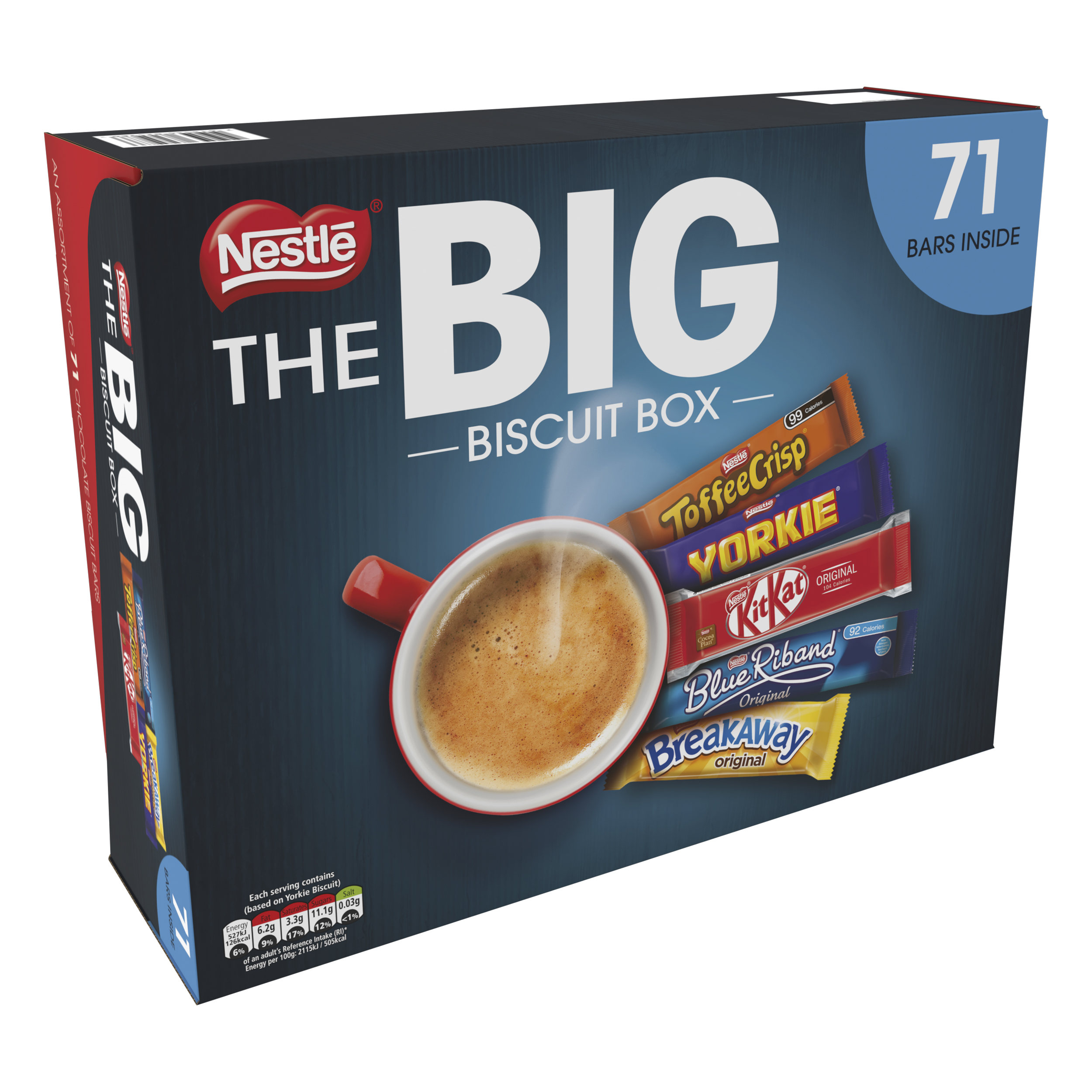 Biscuits Nestle Big Chocolate Box Five Assorted Biscuit Bars Ref 12391006 [Pack 71]