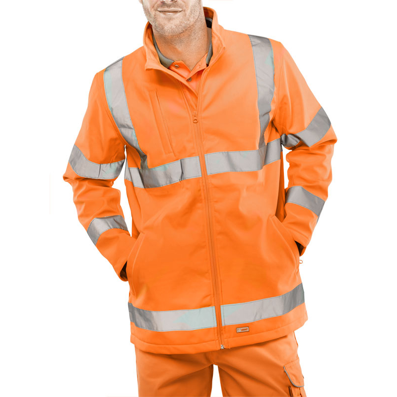 Bseen High-Vis Soft Shell Jacket EN20471 GO/RT3279 4XL Orange Ref SS20471OR4XL*Up to 3 Day Leadtime*