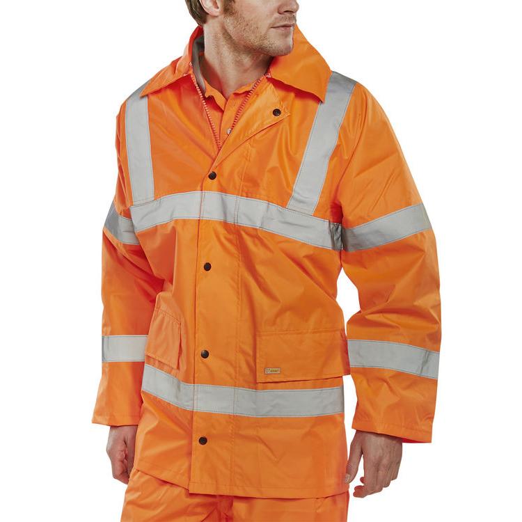 B-Seen High Visibility Lightweight EN471 Jacket Large Orange Ref TJ8ORL Up to 3 Day Leadtime