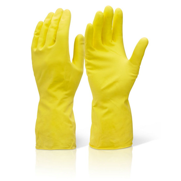 Click2000 Household Medium Weight Large Yellow Ref HHMWL [Pack 10] Up to 3 Day Leadtime