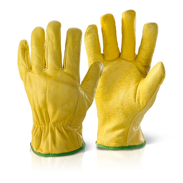 Click2000 Quality Lined Drivers Gloves Yellow L Ref QLDGL [Pack 10] *Up to 3 Day Leadtime*