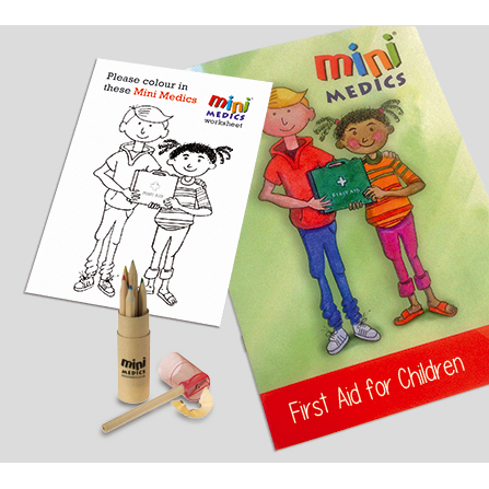 Click Medical Kids First Aid Pack/Pencil Ref CM1323 *Up to 3 Day Leadtime*