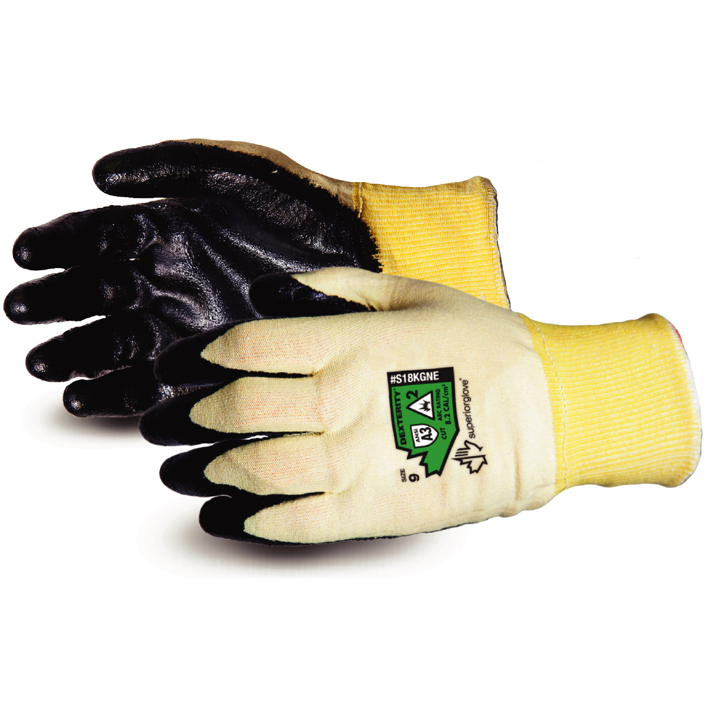 Superior Glove Dexterity 18-G Flame-Resist Arc Flash 8 Black Ref SUS18KGNE08 *Up to 3 Day Leadtime*