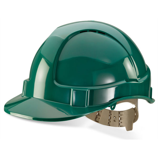B-Brand Comfort Vented Safety Helmet Green Ref BBVSHG Up to 3 Day Leadtime