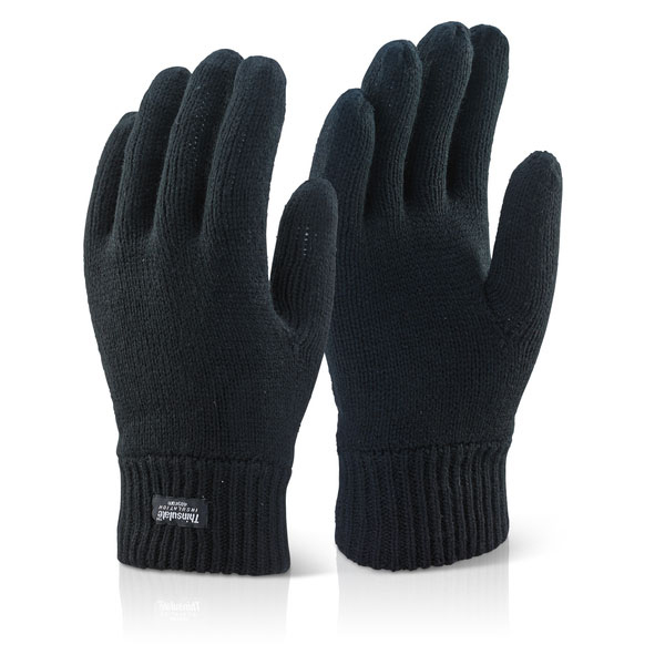 Click2000 Thinsulate Glove Black Ref THGBL [Pack 10] Up to 3 Day Leadtime