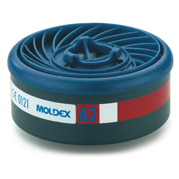Moldex A2 7000/9000 Particulate Filter EasyLock System Blue Ref M9200 [Pack 4] Up to 3 Day Leadtime