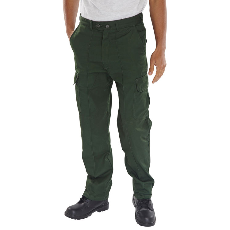 Body Protection Super Click Workwear Drivers Trousers Bottle Green 34 Ref PCTHWBG34 *Up to 3 Day Leadtime*