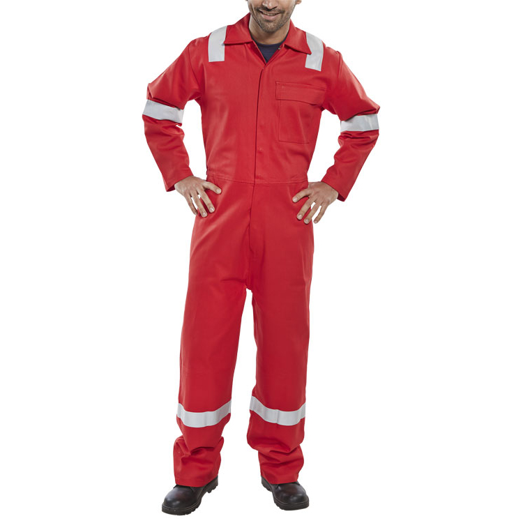 Click Fire Retardant Boilersuit Nordic Design Cotton 44 Red Ref CFRBSNDRE44 *Up to 3 Day Leadtime*