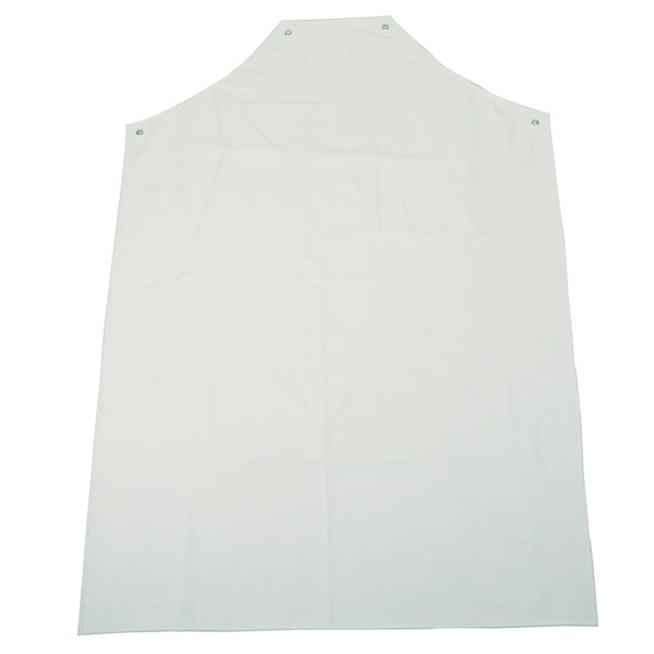 Click Workwear PVC Apron H-W Wht 48inchX36inch Ref PAHWW48-10 [Pack 10] *Up to 3 Day Leadtime*