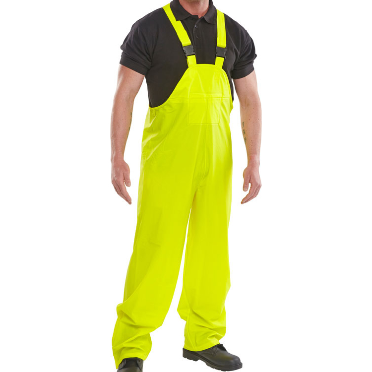 B-Dri Weatherproof Super Bib & Brace PU Coated S Yellow Ref SBDBBSYS *Up to 3 Day Leadtime*