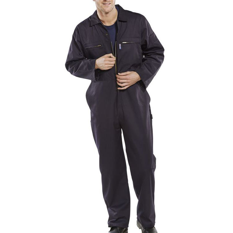 Super Click Workwear Heavy Weight Boilersuit Navy Blue Size 46 Ref PCBSHWN46 *Up to 3 Day Leadtime*