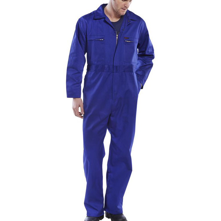 Super Click Workwear Heavy Weight Boilersuit Royal Blue Size 52 Ref PCBSHWR52 *Up to 3 Day Leadtime*
