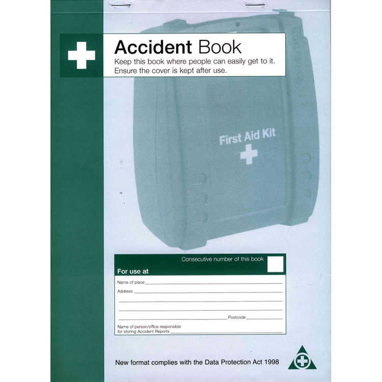 Click Medical Accident Book DPA Compliant Ref CM1324 Up to 3 Day Leadtime