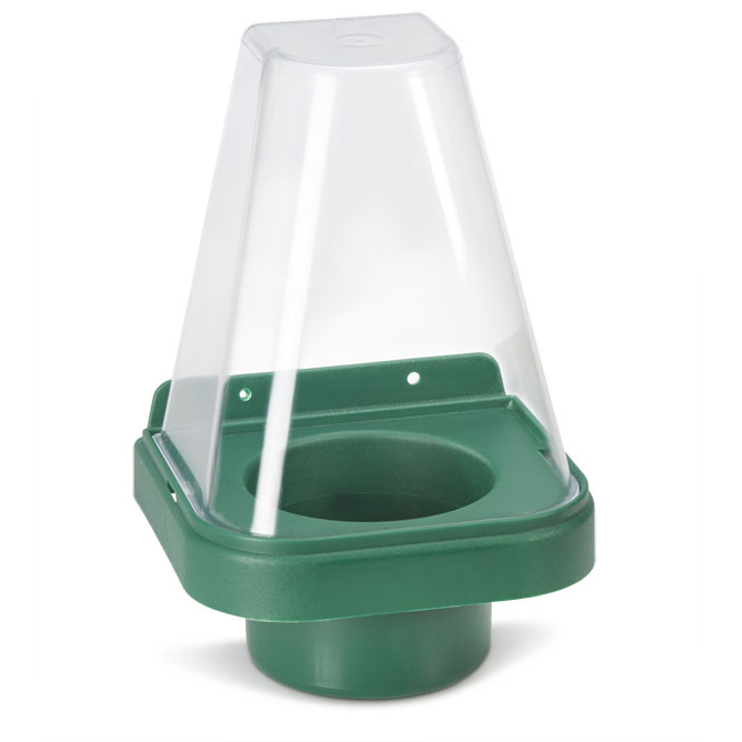 Click Medical Single Eyewash Stand with Cover for 500ml Bottle Green Ref CM1009 Up to 3 Day Leadtime