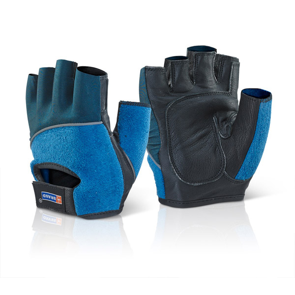 Hand Protection B-Brand Fingerless Gel Gloves XL Ref FGGXL *Up to 3 Day Leadtime*