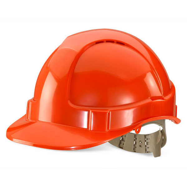 Head Protection B-Brand Comfort Vented Safety Helmet Orange Ref BBVSHO *Up to 3 Day Leadtime*