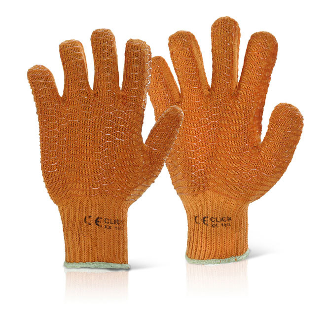 Image for Click2000 Criss Cross Gloves Orange 10 Ref XX [Pack 100] *Up to 3 Day Leadtime*