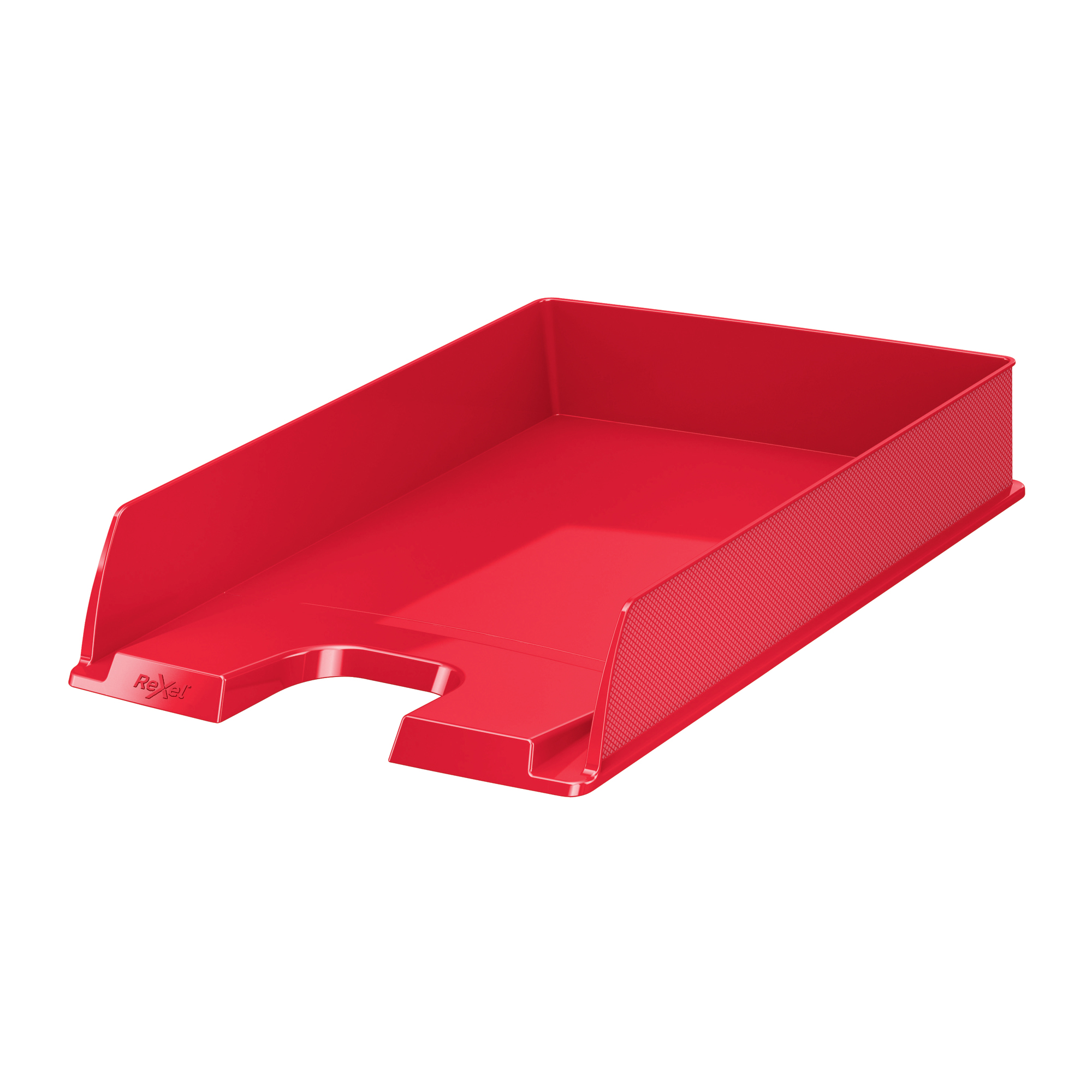 Desktop trays or organizers Rexel Choices Letter Tray PP A4 254x350x61mm Red Ref 2115599