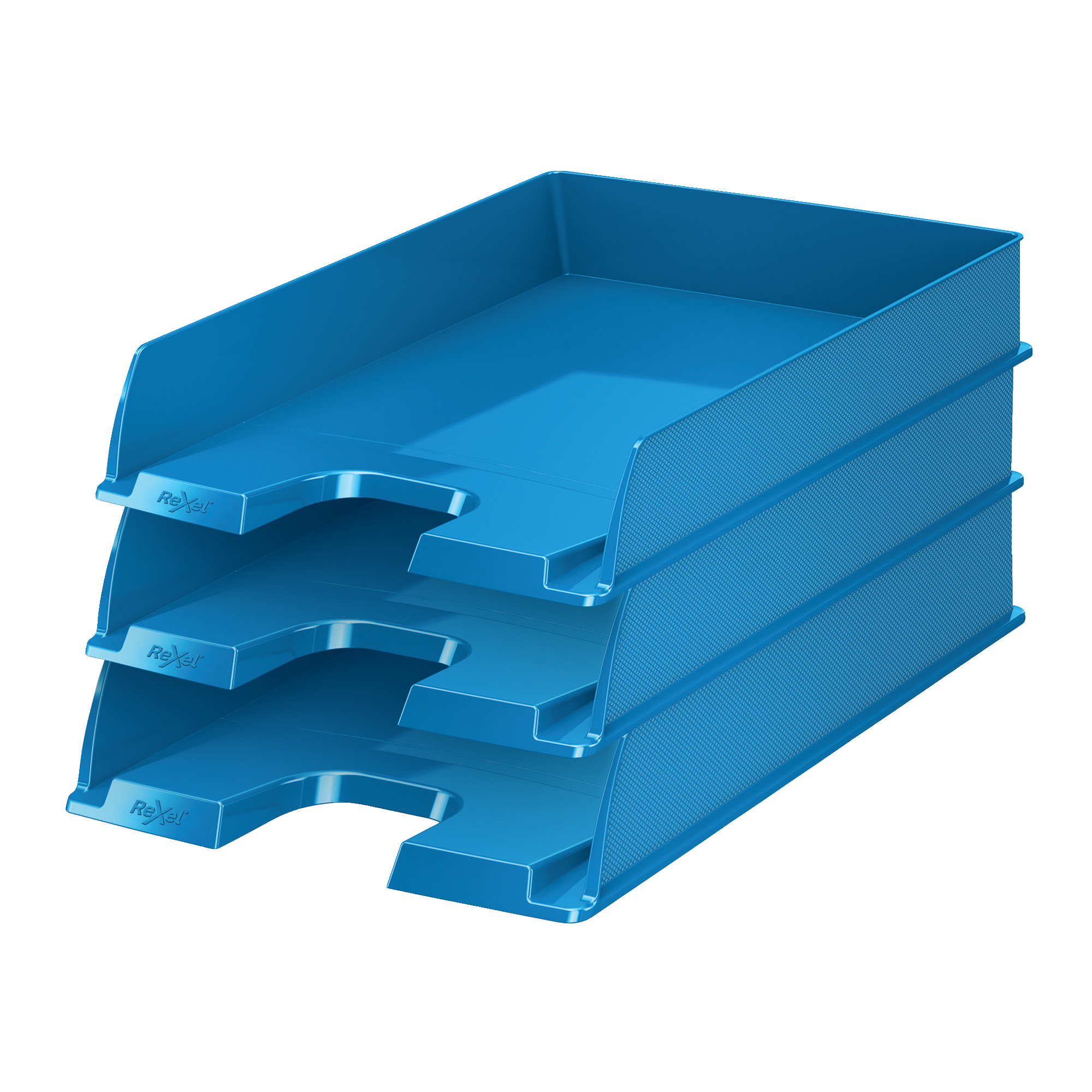 Rexel Choices Letter Tray PP A4 254x350x61mm Blue Ref 2115601