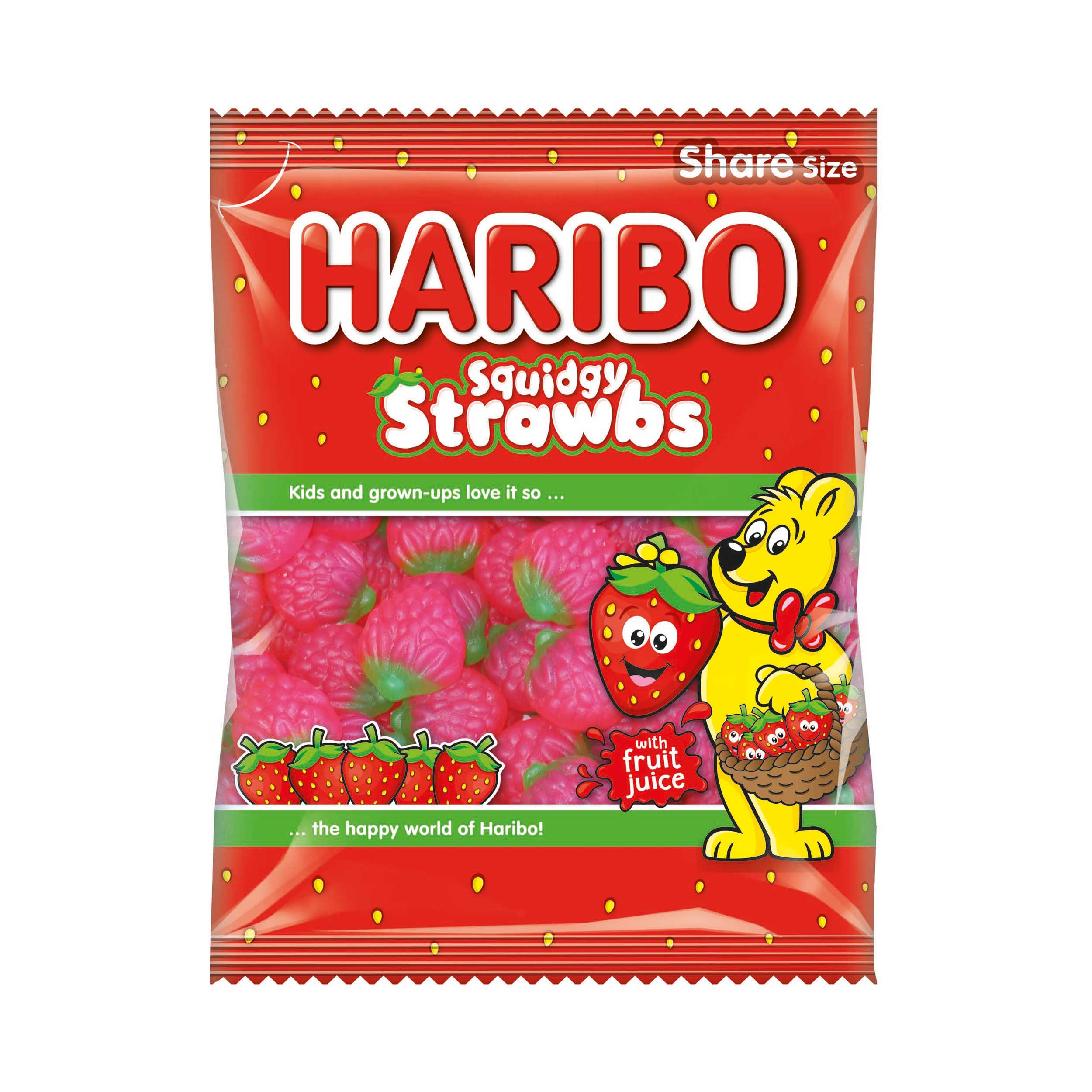 Natural sugars or sweetening products Haribo Giant Strawbs 140g Ref 95730
