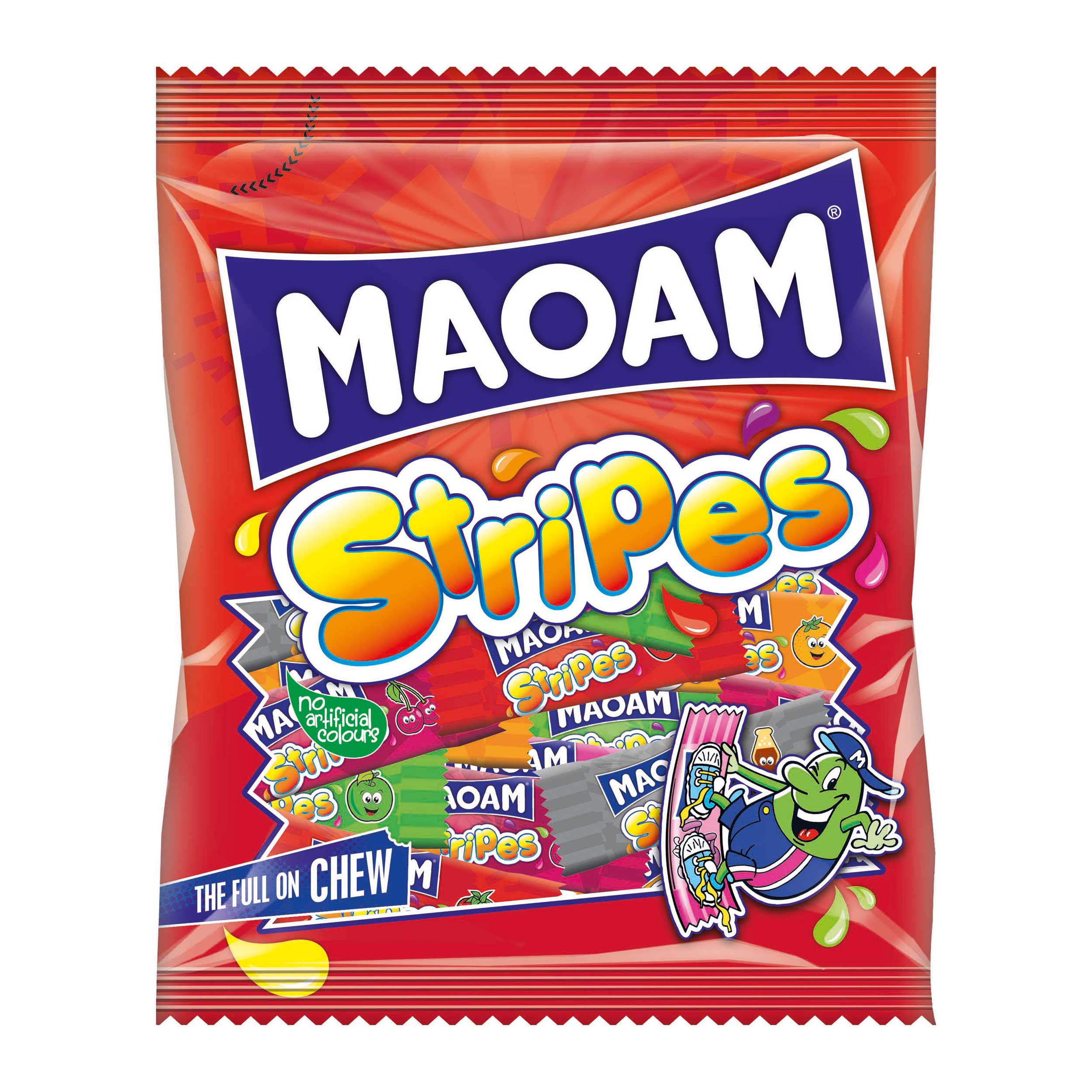 Natural sugars or sweetening products Haribo Maoam Stripes 140g Ref 580730