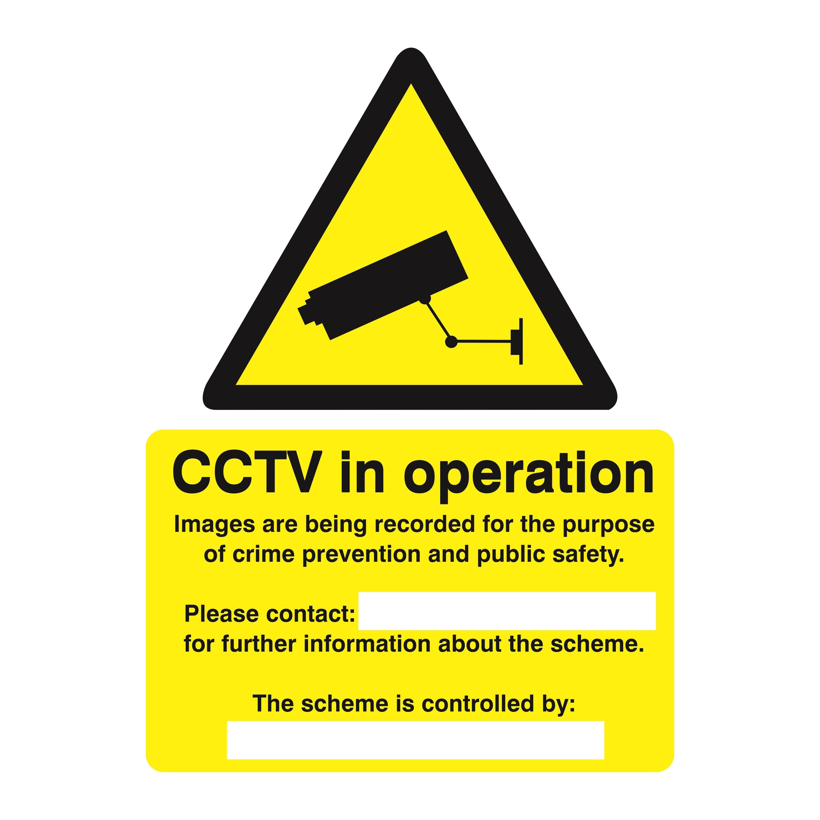 Warning Stewart Superior Caution CCTV Cameras in Operation Sign W150xH200mm Self-adhesive Vinyl Ref WO143SAV