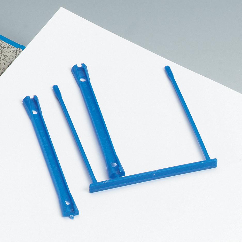 5 Star Office Filing Clip Polypropylene Blue Pack 100
