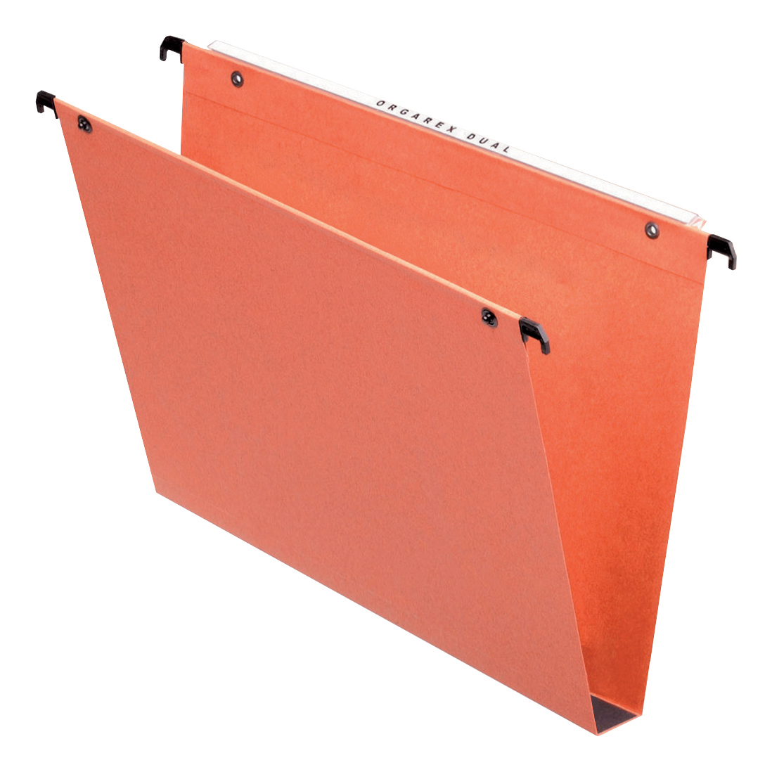 Hanging folders or accessories Esselte FSC Orgarex Suspension File Dual Linking Rcyc 30mm Wide-base 120gsm A4 Orange Ref 21633 Pack 25