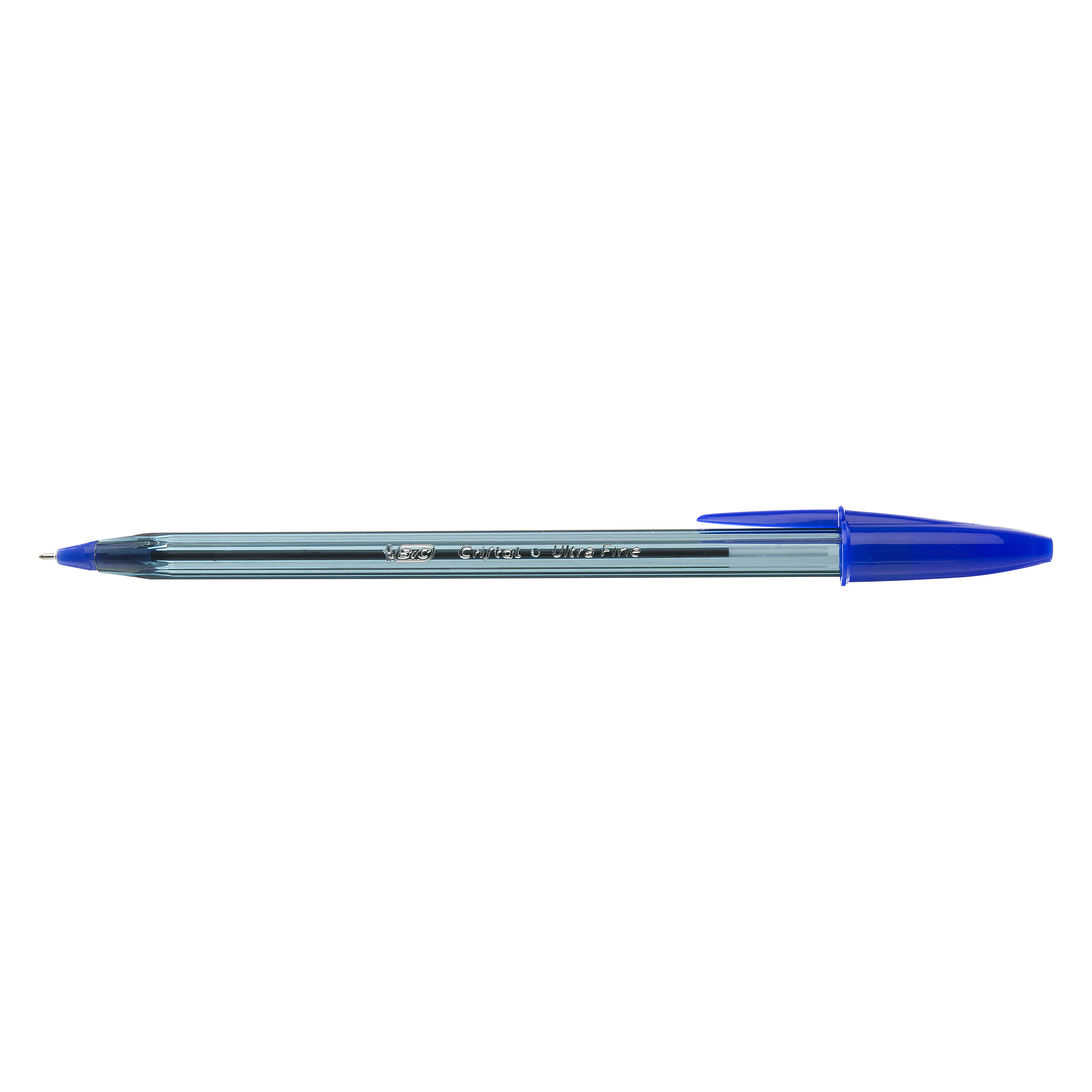 Ball point pens BIC Cristal Exact Ballpoint Pens Ultra Fine 0.7mm Tip Blue Ref 992605 Pack 20