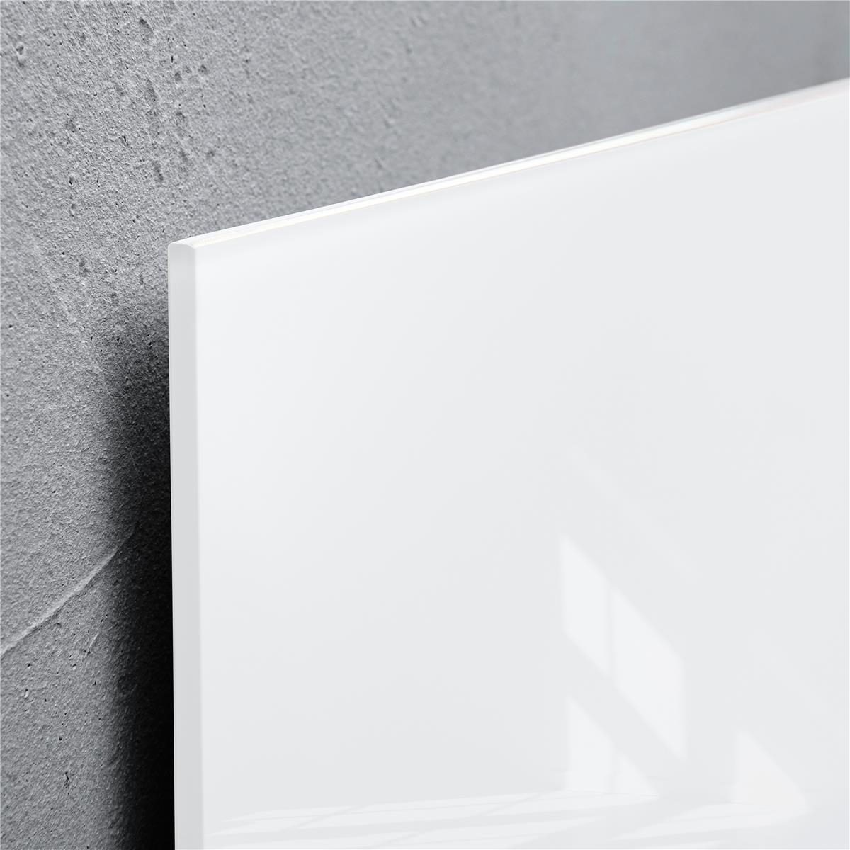 Sigel Artverum High Quality Tempered Glass Magnetic Board With Fixings 1000x650mm White Ref GL141