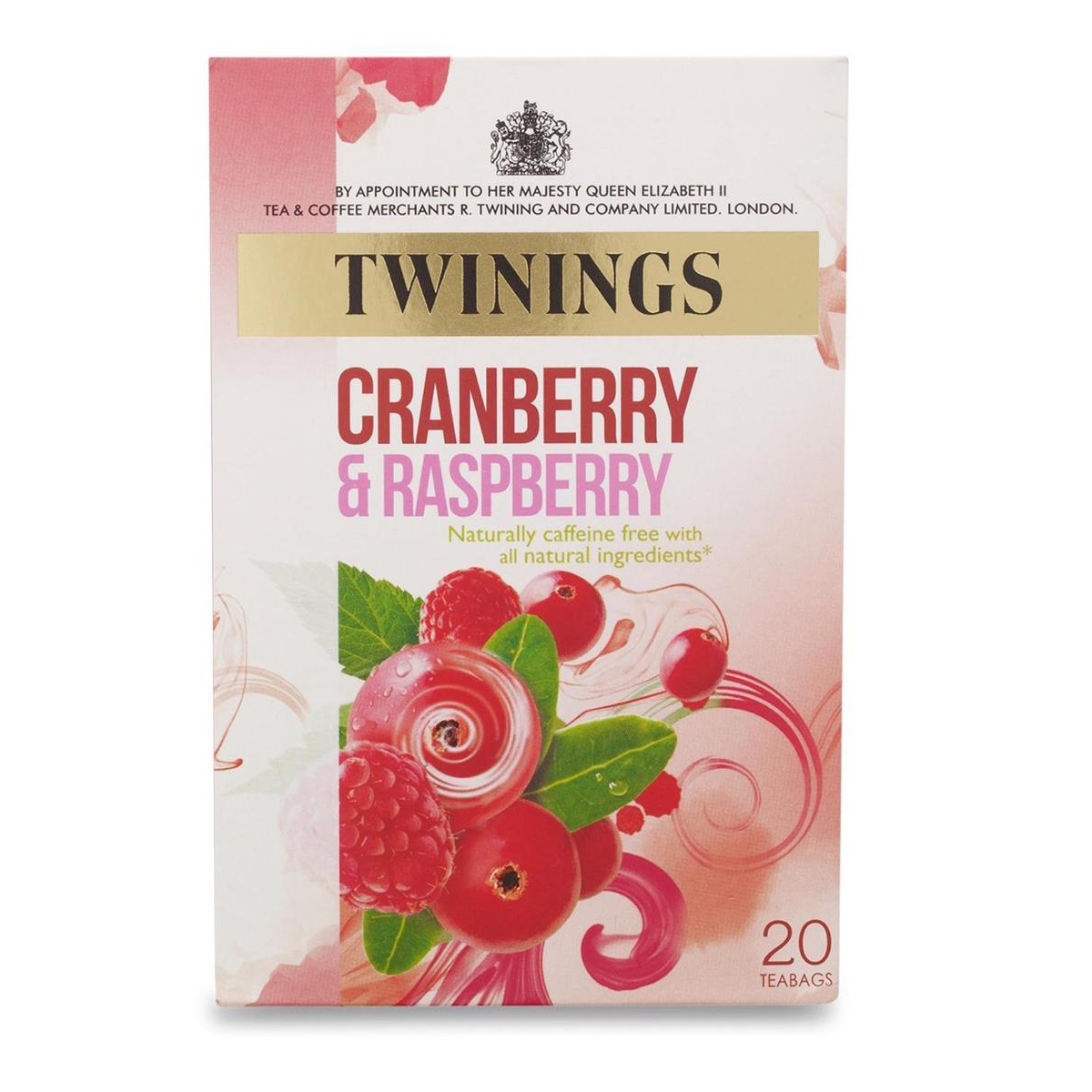 Tea Twinings Infusion Tea Bags Individually-wrapped Cranberry and Raspberry Ref 0403143 Pack 20