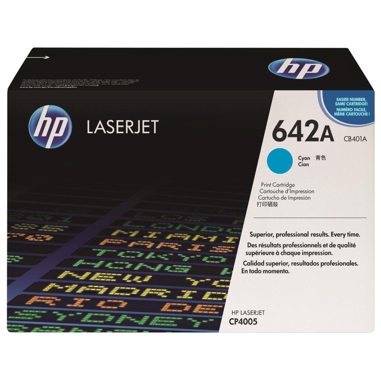 HP 642A Laser Toner Cartridge Page Life 7500pp Cyan Ref CB401A